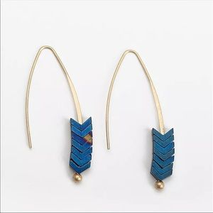 Natural Stone Arrow Earings